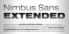 Nimbus Sans™ - Webfont & Desktop font « MyFonts