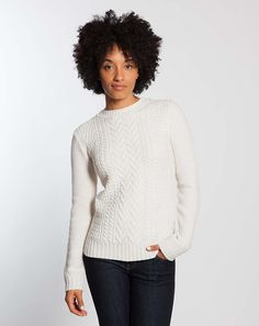 Cable Knit Sweater - Cream – Marine Layer