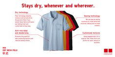 Would these Uniqlo Polo Shirts be perfect for the hot and humid Philippines?