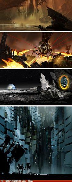 The art of Portal 2, isn't it beautiful!!