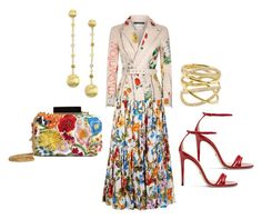 """""""FLOWER POWER"""" by myownflow on Polyvore featuring Dolce&Gabbana, Alexander McQueen, Alice + Olivia, Gucci, Marco Bicego and Lana"""