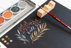 Gummi Arabicum, Medium Art, Modern Classic, Our Love, Zentangle, Watercolor Paintings, Doodles, Palette, Handmade
