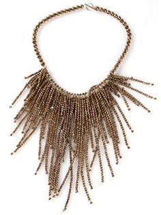 Shop Brunello Cucinelli hematite fringe necklace in Marissa Collections from the world's best independent boutiques at farfetch.com. Over 1000 designers from 300 boutiques in one website.
