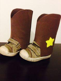 botas fieltro disfraz cowboy superhero