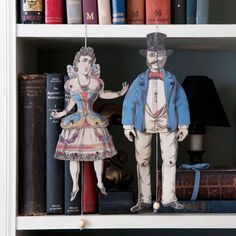 Quirky home accessories that make fabulously unusual wall decor. These Articulated Puppet Decorations have moveable joints that move when you pull the cord. Great gifts for him and her or for a couple as an unusual anniversary or wedding gift.
