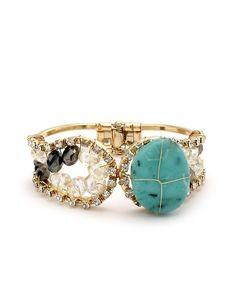 Boho Shimmer Stone Bracelet - Turquoise  $12