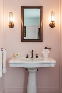 Bathrooms Pretty Enough to Make You Blush - 9 Modern (& Sophisticated) Pink Bathrooms Blush Bathroom, Bathroom Colors, Bathroom Wall, Modern Bathroom, Small Bathroom, Pink Bathrooms, Bathroom Ideas, Washroom, Master Bathroom