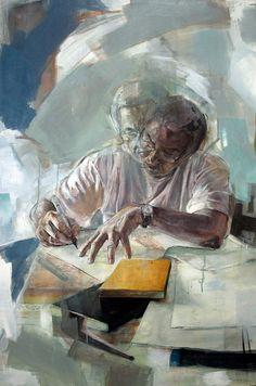 """""""Writing"""" - 90cm x 60cm - Acrylic on canvas - Benjamin García"""