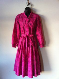 60s Pink Paisley Serbin Dress by TheAtomicSquirrel on Etsy