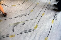 """Doing something more interesting with the polished concrete - say doing wayfinding """"tracks"""" to guide people to common areas and conference rooms."""