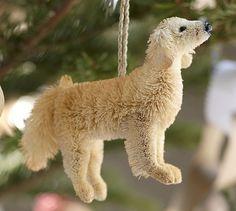 Bottlebrush Labrador Retriever Ornament   Pottery Barn Look @Kristina Kilmer Kilmer Rieman it's Ollie