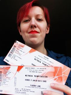 My ticket of Within Temptation for the #WTworldtour in 2014 in Lille & Paris ♥ SO EXCIIIIIITED !