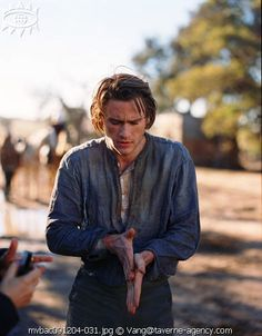 Heath Ledger backstage