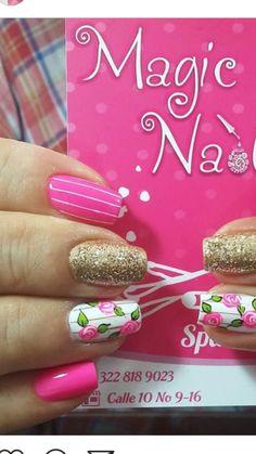 Semi Permanente, Fall Nail Colors, Gel Nail Designs, Gel Nails, Hair Beauty, Nail Art, Rose, Nail Design, Pink Nail