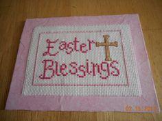 cross stitch Easter card in my etsy shop DebbyWebbysCards