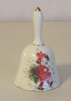 Lefton Hand Painted China Christmas Bell  #Lefton