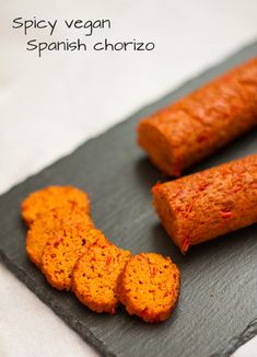This spicy vegan Spanish chorizo is a great addition to your tapas repertoire! Seitan Recipes, Chorizo Recipes, Meat Recipes, Whole Food Recipes, Vegetarian Recipes, Cooking Recipes, Vegan Foods, Vegan Dishes, Tempeh