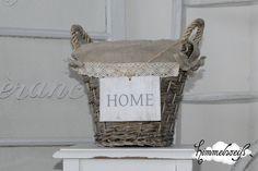 "shabby basket ""HOME"""
