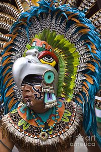 Aztec Eagle Dancer - Mexico Art Print by Craig Lovell