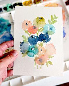 Original Pastel Spring Flowers Painting by Elise Engh