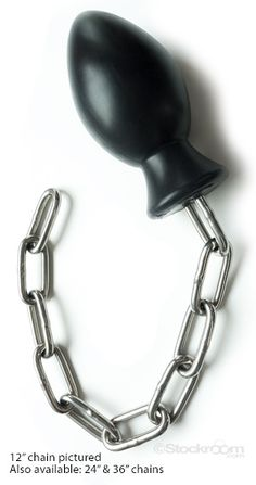 With the Bad Puppy Plug you can keep your partner leashed up and ready for the pound. Restraint is an option if you attach the chain to some immobilizing device, puppy play with a leash attached gives a Dom a new way to keep control, and solo users will even enjoy the different sensation of having the chain's weight pulling on the plug.