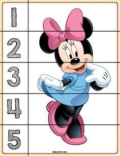 c : FREE! Printable Mickey & Friends Number Puzzles - Autism & Education FREE basic puzzles for early developing skills. Puzzles For Toddlers, Printable Activities For Kids, Preschool Printables, Preschool Math, Math For Kids, Preschool Worksheets, Free Printable Puzzles, Kindergarten Math, Toddler Learning Activities