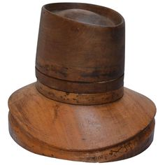 19th C. Wooden French Hat Form, marked PARIS | From a unique collection of antique and modern decorative objects at http://www.1stdibs.com/furniture/more-furniture-collectibles/decorative-objects/