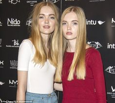 Ruth with her twin sister May last year. The sisters were spotted three years ago by a scout while on holiday in Paris and were later signed by the international modelling agency Elite