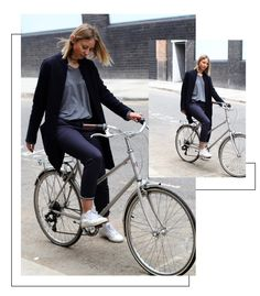 778a9aa0ef7f1 Stylish and smart cycling wearing Superga trainer and blue bicycle commuter  chinos by A.W.A on tokyobike
