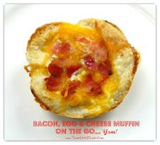 Bacon, Egg & Cheese Muffins  I bet these would freeze well, for a breakfast on the go.