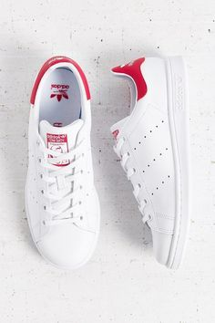 Next on my list: red Adidas Originals Stan Smith Sneaker Best White Sneakers, Buy Sneakers, Sneakers Adidas, Red Adidas Shoes, Trainers Adidas, Adidas Red, Stan Smith Sneakers, Stan Smith Shoes, Cute Shoes