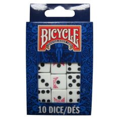Decor - Bicycle Dice - Pack of 10 - Target