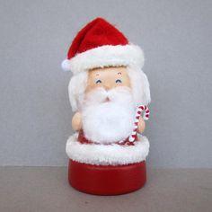 Christmas Santa Bell Flowerpot Ornament