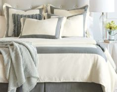 bedding white grey