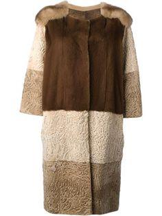 Liska пальто с панельным дизайном