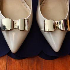 "bayareaprep: ""Bows and Scallops 🎀 #jcrew #bows #heels #scallops """
