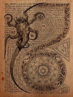 cthulhu tattoo hp lovecraft ~ cthulhu tattoo - cthulhu tattoo design - cthulhu tattoo hp lovecraft - cthulhu tattoo cute - cthulhu tattoo kraken - cthulhu tattoo sleeve - cthulhu tattoo traditional - cthulhu tattoo old school Necronomicon Lovecraft, Lovecraft Cthulhu, Magick, Witchcraft, Dark Fantasy, Fantasy Art, Lovecraftian Horror, Call Of Cthulhu, Occult Art