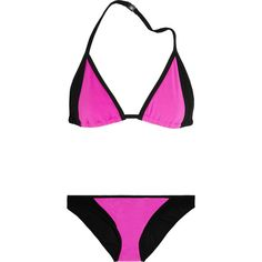 Michael Kors Color-block triangle bikini ($71) ❤ liked on Polyvore
