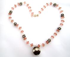 Art Deco Necklace Cut Glass Crystal Necklace