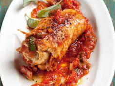 Involtini mit Tomatengemüse