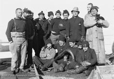 Some of the Terra Nova crew on the fo'castle. Dec. 28th 1910