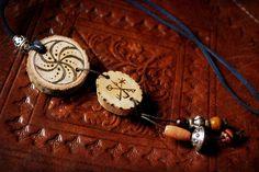 Norse Shaman wood necklace. €20,00, via Etsy.