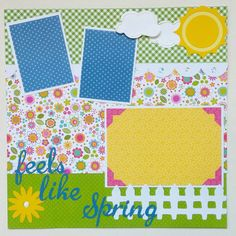 12x12 Spring Scrapbook page  Premade Spring by ohioscrapper