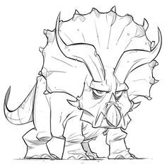 #triceratops #sketch just to stay loose