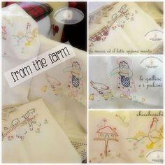 Con le stoffe della nonna e vecchi giornali...from the farm ~ Grafic Scribbles