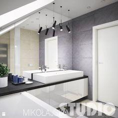 Projekt łazienki-naturalne kolory, materialy - zdjęcie od MIKOŁAJSKAstudio - Łazienka - Styl Industrialny - MIKOŁAJSKAstudio