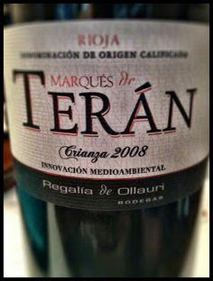 El Alma del Vino.: Bodegas Regalía de Ollauri Marqués de Terán Crianza 2008.
