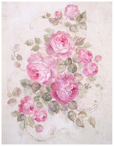 Rose Serenade, by Debi Coules Best Picture For Shabby chic house For Your Tas. Rose Serenade, by D Shabby French Chic, Romantic Shabby Chic, Romantic Roses, Beautiful Roses, Romantic Cottage, Shabby Cottage, Decoupage Vintage, Decoupage Paper, Pintura Shabby Chic