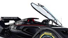 McLaren Reveals Closed Cockpit Formula One Concept Car Mercedes Benz Mclaren, New Mclaren, Mclaren Mp4, Lamborghini, Ferrari, Auto Motor Sport, Sport Cars, Race Cars, Kit Cars