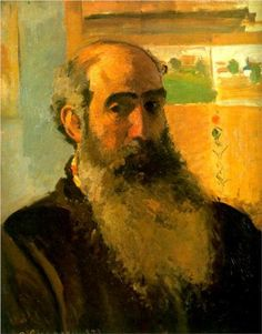 Self Portrait of Camille Pissarro ~ Camille Pissarro – was a Danish-French Impressionist and Neo-Impressionist painter Camille Pissarro, French Impressionist Painters, Impressionist Artists, Paul Cezanne, Renoir, Gustave Courbet, Am Meer, Famous Artists, Art History